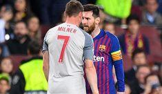 "Milner reveals: Messi called me a ""donkey"" - Soccer Score Liverpool Fc Champions League, Soccer Scores, James Milner, Pep Guardiola, Camp Nou, S Class, Semi Final, Tottenham Hotspur, Lionel Messi"