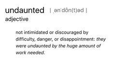 i will b undaunted