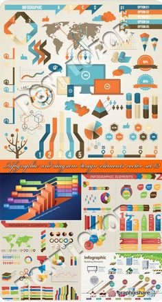 Infographic and diagram design elements vector set 62