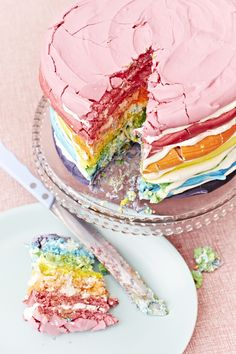 """Rainbow cake from Meringue Girls, fun to slice and eat!  For more Alternative Wedding inspiration, check out the No Ordinary Wedding article """"20 Quirky Alternatives to the Traditional Wedding""""  http://www.noordinarywedding.com/inspiration/20-quirky-alternatives-traditional-wedding-part-2"""