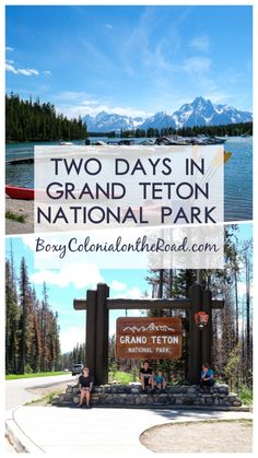 Two Days in the Tetons: Visiting Grand Teton National Park - Boxy Colonial On the Road Visiting Grand Teton National Park with kids: Jackson Lake, Jenny Lake, Inspiration Point, Mormon Row, etc Wyoming Vacation, Yellowstone Vacation, Tennessee Vacation, West Yellowstone, Usa Roadtrip, Travel Usa, Us National Parks, Grand Teton National Park, Death Valley