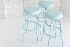 Baby Blue vintage stools!!! 35 Gorgeous Vintage Finds From Chicago Etsy #refinery29