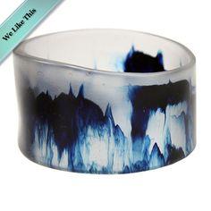 Ocean resin bangle by Milkwood Design