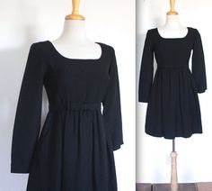 Vintage 1960's Dress // 60s Sparkly Black Baby by TrueValueVintage