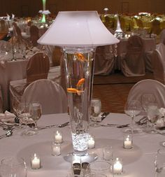 This is so me. I love these lamp! I really like the lights that light up in the water too. Was at a wedding that had the vases with marbles and light and it was so pretty. Just cool!