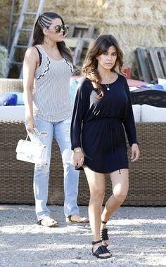 Casual shopping day for Khloé and Kourtney Kardashian