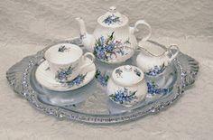 Forget-Me-Not Bone China Tea Set