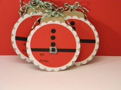 Santa Gift Tags on Kraft by hannahmize on Etsy
