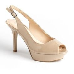 nine west just smile slingback nude pump  Nude pump. Great used condition  it's a light color shoe, so has some flaws from me wearing it those few times, not noticeable when on. Very comfy!!!! No box Nine West Shoes Heels