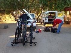 Getting ready for the big cycle through the Richtersveld and Augrabies National Parks. National Parks, Hiking, Bicycle, Motorcycle, Big, Vehicles, Walks, Bicycle Kick, Rolling Stock