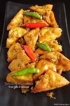 Tahu Goreng Lengkuas (Fried Tofu in Galangal)