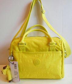 NEW NWT KIPLING Beonica Handbag Satchel Handles + Xbody Strap Honeydew Nylon  #Kipling #SatchelCrossbody