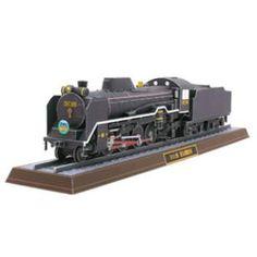 蒸気機関車 D51 498,乗物,ペーパークラフト,アジア・オセアニア,日本,黒,列車