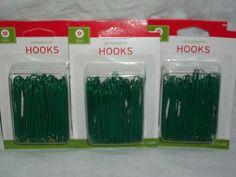 "Christmas Ornament Hooks 2.5"" Large Jumbo Green 300 Tree Wedding Garden Hangers"