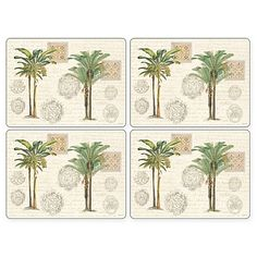 Add breezy island style to your table with Pimpernel's Vintage Palm Study Placemats. They feature a high-quality coating that is both stain and heat resistant, so it will protect your beautiful furniture.