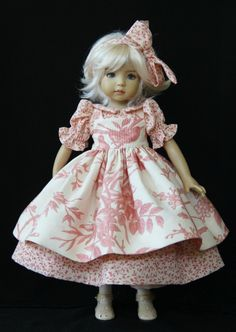 "Coral & Cream OOAK Outfit for Effner 13"" Little Darling ~ by Glorias Garden"