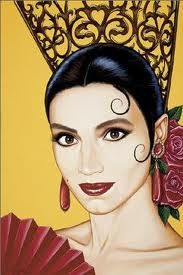 "033 ""Retrato de Clara (Ángela Molina) por Antonio de Felipe"" / Carne Trémula (1997) / #Almodovar"