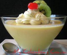 Flan de Mango Colombia, cocina, receta, recipe, colombian, comida.