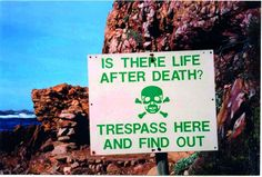 Is there life after death Trespass here and find out