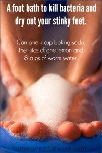 foot bath to kill bacteria and dry out stinky feet