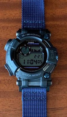 2fc2875296d1 Casio G-Shock Frogman Depth Meter GWF-D1000B CUSTOM STRAP! Made in Japan