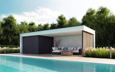 Launch Your Own Wood Business - Un poolhouse vraiment contemporain installé en une journée au bord de votre piscine ! Launch Your Own Wood Business - Discover How You Can Start A Woodworking Business From Home Easily in 7 Days With NO Capital Needed! Modern Pool House, Modern Pools, Woodworking Courses, Woodworking Plans, Woodworking Projects, Wood Projects, Pool House Piscine, Patio Chico, Pool Shed