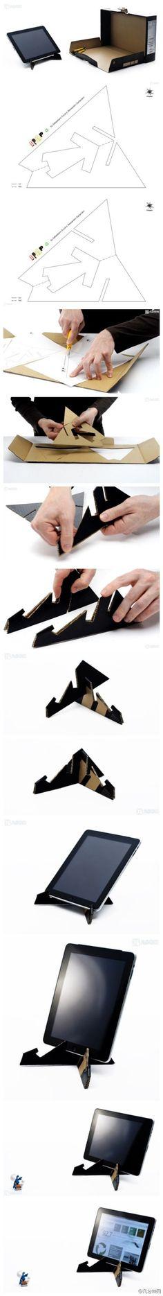 DIY Cardboard Tablet Stand
