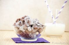 you naught thing! Trail Mix Recipes, Snack Recipes, Dessert Recipes, Yummy Recipes, Puppy Chow Snack, Puppy Chow Recipes, Monkey Munch Recipe, Delicious Desserts, Yummy Food