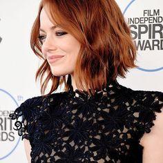 Emma Stone | Cortes e Penteados para Cabelos Curtos 2016 - Short Hair #Bob…