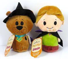 Hallmark Itty Bittys Halloween Scooby Doo & Shaggy 2015 NWT KID3375, KID3376 #Hallmark