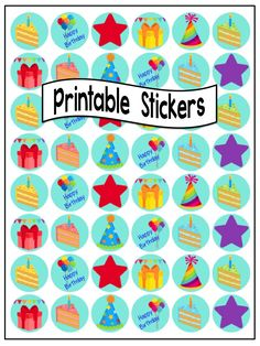 stickers 60 printable sticker templates