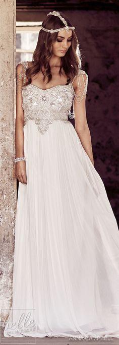 Wedding Dress by Anna Campbell Eternal Heart collection 2018 #weddinggowns