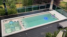Mini Swimming Pool, Swimming Pools Backyard, Swimming Pool Designs, Pool Landscaping, Mini Pool, Small Indoor Pool, Oberirdischer Pool, Swimming Pool Architecture, Mini Piscina