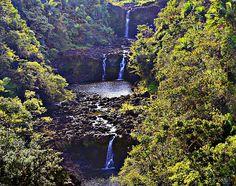 Umauma Falls III- photo taken of Umauma Falls in Hakalau, Hawaii. ©2013 Patricia Griffin Brett embedded copyright
