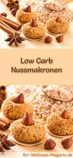 Low-Carb-Weihnachtsgebäck-Rezept für Nussmakronen: Kohlenhydratarme, kalorienreduzierte Weihnachtskekse - ohne Getreidemehl und Zucker gebacken ... #lowcarb #backen #weihnachten