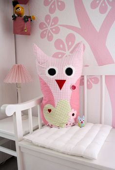 owl with hearts  diadu: Sewing