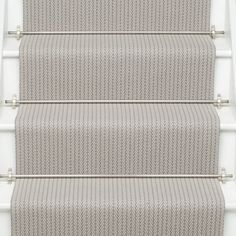 Higherground supply and fit your Roger Oates Fulham Quartz carpet stair runner throughout Surrey, Sussex and London - Call us today Stairway Carpet, Hallway Carpet, Basement Carpet, Wall Carpet, Diy Carpet, Rugs On Carpet, Carpet Ideas, Carpet Decor, Hallway Flooring