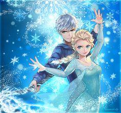 Elsa (Frozen) and Jack Frost (Rise of the Guardians) Jelsa! Disney Pixar, Heros Disney, Disney And Dreamworks, Disney Characters, Couple Disney, Disney Couples, Disney Love, Disney Girls, Frozen Love