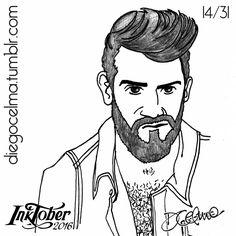 #InkTober Number 14: Colby Keller ✒ #InkTober2016 #drawing #illustration #illustrationoftheday #ink #inkdrawing #handmade #pencil #sketch #sketching #art #fanart #ColbyKeller #ColbyDoesAmerica #artist #actor #porn #pornstar #sexy #guy #beard #facialexpressions #gay #gayporn #blogger #adultfilms #portrait https://www.facebook.com/diegocelmailustrador/