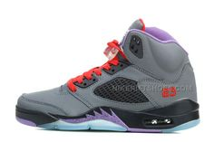 the latest 64c34 1511b Air Jordan 5 Wolf Grey Black-Court Purple Varsity Red For Sale, Price    90.00 - Nike Rift Shoes