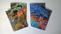 Painted Silk, Hand Painted, Jack Rabbit, Silk Painting, Silk Scarves, Jaguar, Arizona, Wildlife, Greeting Cards