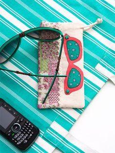 Porta-óculos de tecido é ótimo presente para as mães