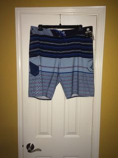 NWT Size 38 Volcom Men's Swimming Shorts A0811607 NVY #Volcom #Trunks