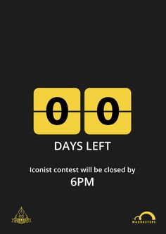 Zero Days left! #Iconist #contest will be closed today by 6PM.  Thanks for the people who made their submissions.  Winner name will be announced on the main meetup day. We will keep you updated.  Thanks again.