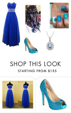 """Blue"" by jordanbond55 ❤ liked on Polyvore featuring beauty, Lauren Lorraine and Lord & Taylor"