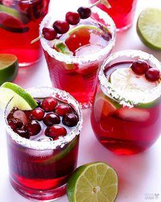 So festive! Cranberry Margaritas