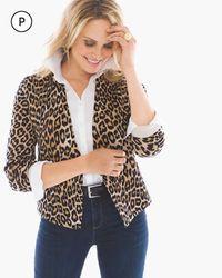 Petite Lylah Cheetah Cardigan >