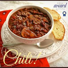 "My Triple Cook-Off Winning Chili ""This recipe had the right amount of heat! The flavors blend well and it has fast become a favorite of many on the Crew!"""