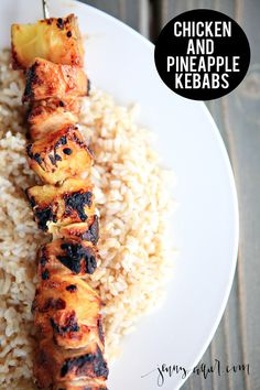These chicken and pineapple kebabs are a summer favorite for us. Light, healthy, and easy to boot!