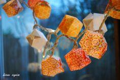 valentine origami box lighted garland 8.